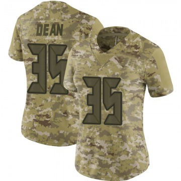 Women's Tampa Bay Buccaneers Jamel Dean Camo Limited 2018 Salute to Service Jersey By Nike